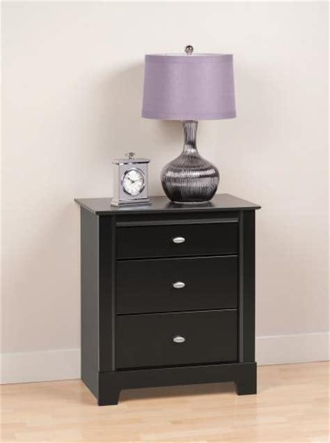 black tall standing l prepac kallisto 3 drawer tall night stand in black bdnh