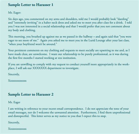 Sexual Harassment Letter Template by Formal Complaint Letter For Human Resources Gallery