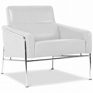fauteuil moderne cuir blanc hidy lestendancesfr With fauteuil moderne blanc