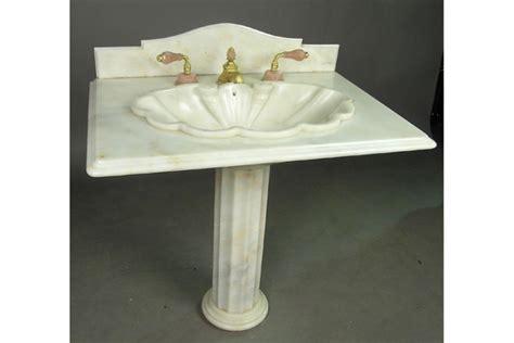 Sherle Wagner Pedestal Sink by Sherle Wagner Onyx Pedestal Sink With Backsplash Resting