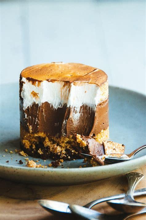 s more cake s mores custard cake