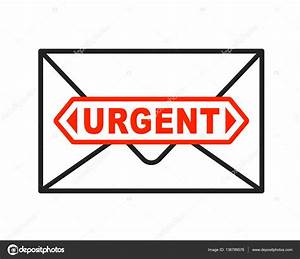urgent envelope icon with important letter stock vector With urgent letter envelopes