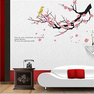 Small sakura flower bedroom room vinyl decal art diy home