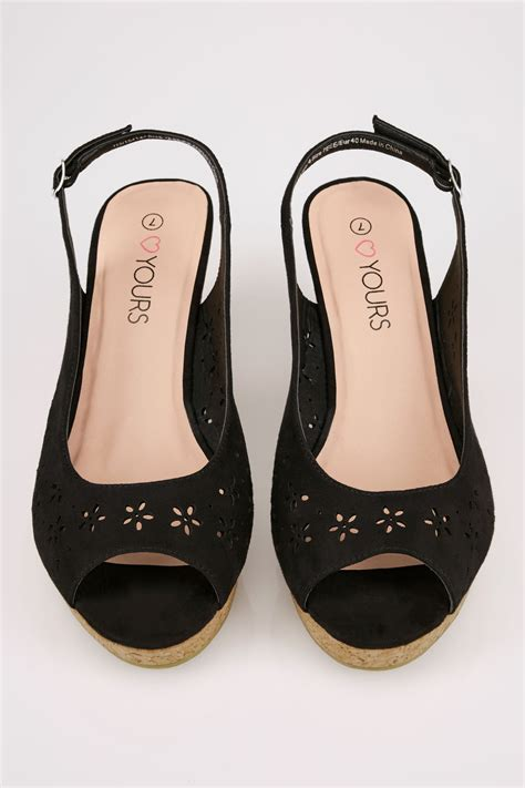 Schwarze Bequeme Sohlen Keilabsatzt Sandalen