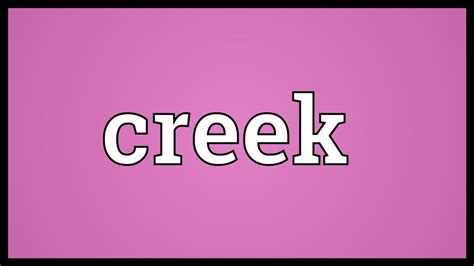 Creek Meaning Youtube