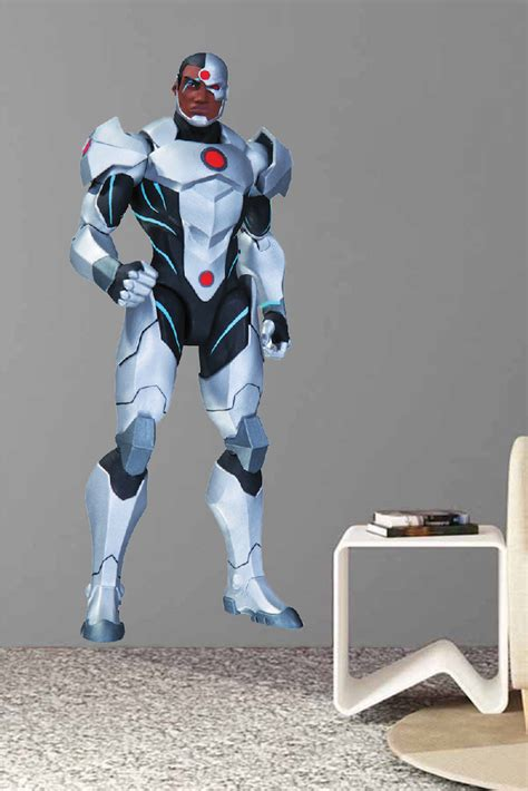 cyborg superhero wall decal room decor superhero wall