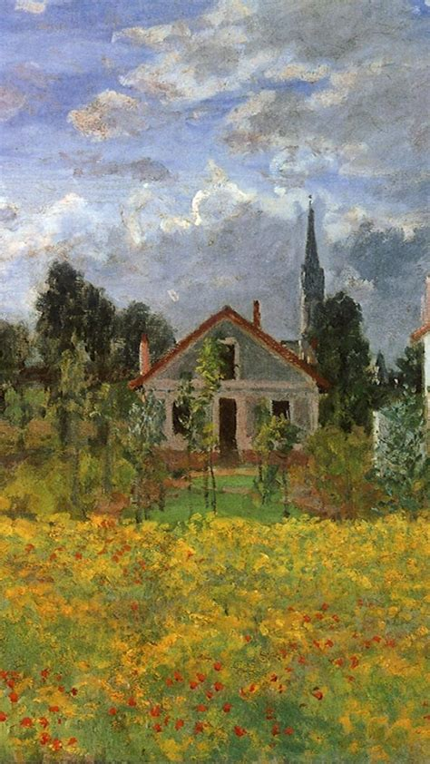 paintings flowers houses claude monet impressionism