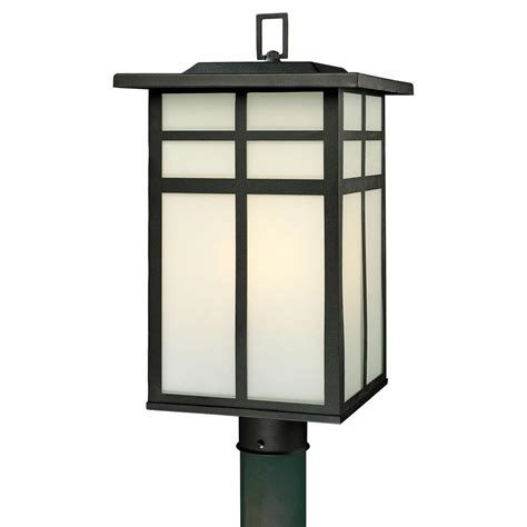 lighting mission 3 light outdoor black post lantern