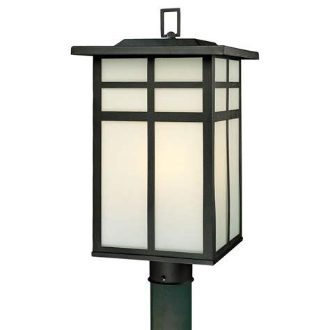lighting mission 3 light outdoor black post lantern
