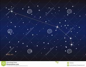 Aries constellation stock vector. Image of star, astronomy ...