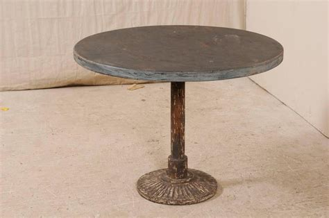 french vintage  bistro table  nicely aged iron