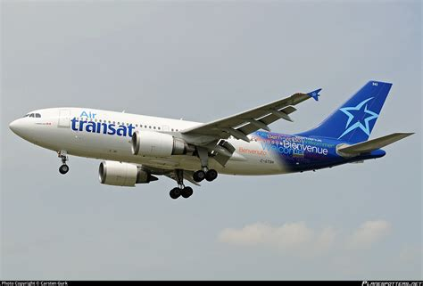 c gtsh air transat airbus a310 308 photo by carsten gurk id 290336 planespotters net