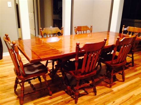 dining room table 6 chairs hutch usa conway home and