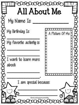 all about me preschool at home school