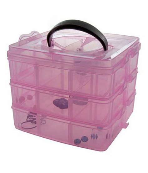 boite de rangement scrapbooking boite de rangement avec poign 233 e pour perles et scrapbooking