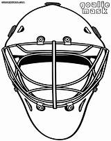 Goalie Coloring Mask Pages Jawar Coloringway Printable Colorings Blank sketch template