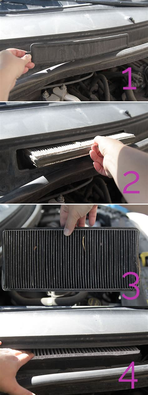 service manual   change  cabin air filter