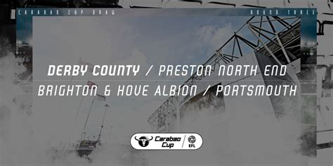 Derby To Face Preston North End At Pride Park In Carabao ...
