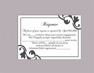 diy wedding rsvp template editable text word file instant With free printable wedding invitations and rsvp cards