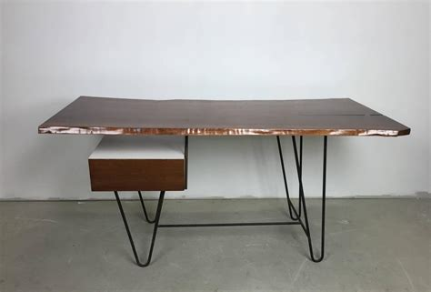 floating desk for sale 1950s hairpin desk with floating drawer and custom free