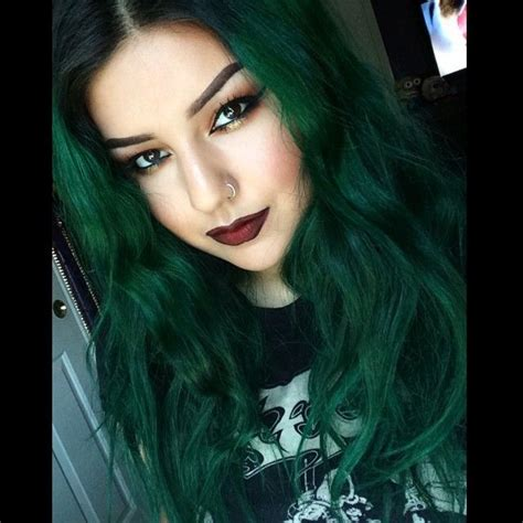 Hair Colors For With Green by Best 25 Green Hair Ideas On Emerald Hair