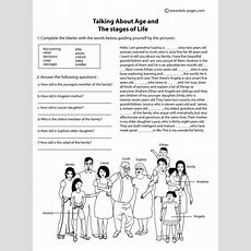 Age And The Stages Of Life B&w Worksheet