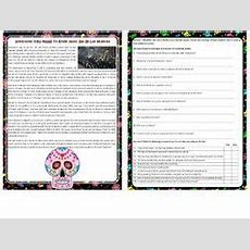Everything You Need To Know About Dia De Los Muertos  Reading Comprehension Text  Worksheet By