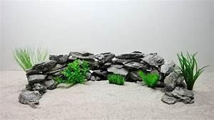 Aquarium Deko Steine : aquarium deko natursteine in grau dekoration felsen steinr ckwand steine aquaristik ~ Frokenaadalensverden.com Haus und Dekorationen