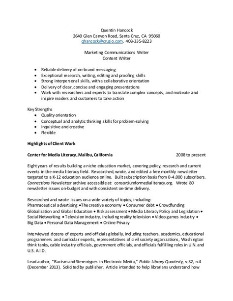 marketing and communications resume