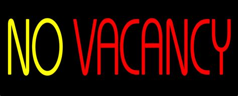Animated No Vacancy Without Border Neon Sign|neon Custom