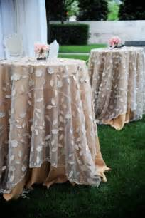 wedding table linens country wedding lovely overlays table linens 2031720 weddbook