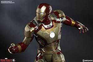 Marvel Iron Man Mark 42 Quarter Scale Maquette by Sideshow ...