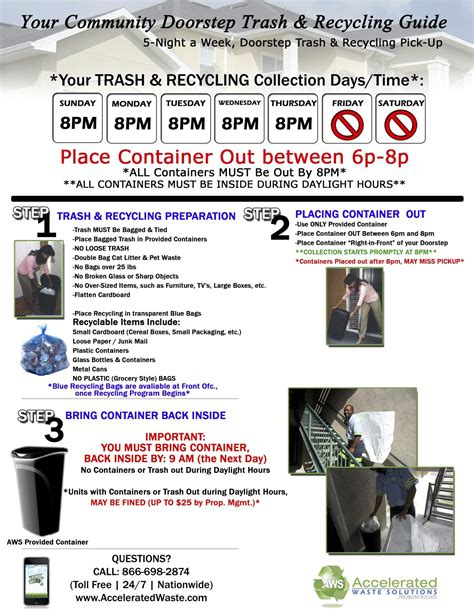 Valet Service Meaning by Valet Trash Recycling Guidelines Lake Nona Water Mark
