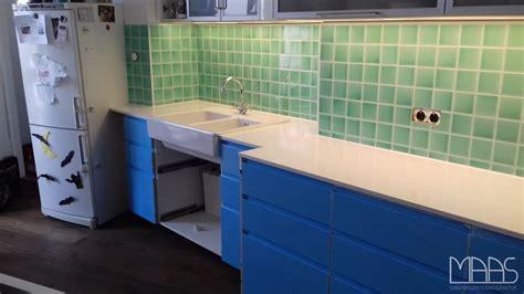 München Ikea Küche Mit Silestone Arbeitsplatten Iconic White