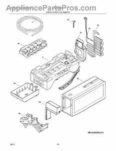 Parts For Frigidaire Lgub2642lp3  Fresh Food Ice Maker Parts