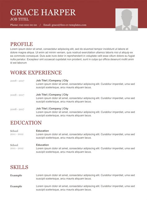 Cv Templates by Top Cv Templates We Listed The Best 10 Resume Templates