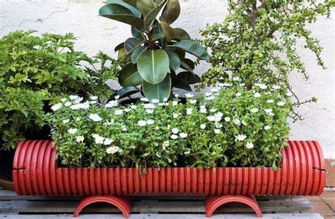 vasi in pvc vasi per piante fai da te con tubo in plastica come