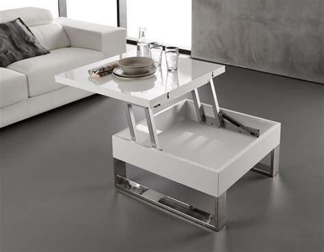 canapé rustique table basse blanc laqué relevable extensible latablebasse