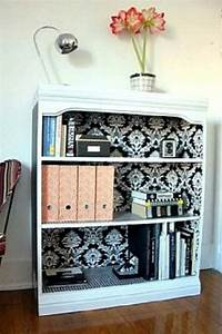 27 Cool DIY Furniture Makeovers with Wallpaper - Amazing