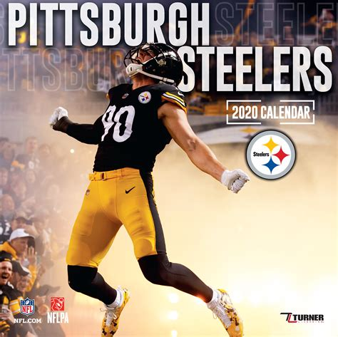pittsburgh steelers  nfl mini wall calendar buy