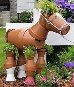 Creation Avec Des Pots De Fleurs : cr ations personnages en pots de fleurs ~ Melissatoandfro.com Idées de Décoration