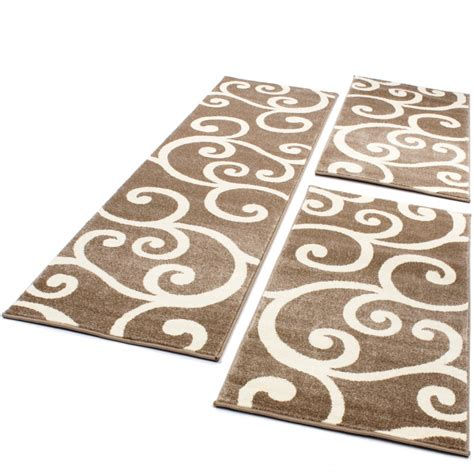 Guide Tappeti by Set Tappeti Guide Motivo Moderno 3 Pz Beige Panna