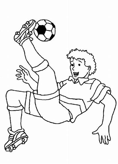 Football Players Drawing Coloring Soccer Pages Getdrawings