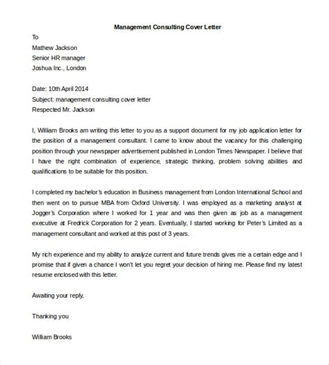 Best Consulting Cover Letters by 54 Free Cover Letter Templates Pdf Doc Free