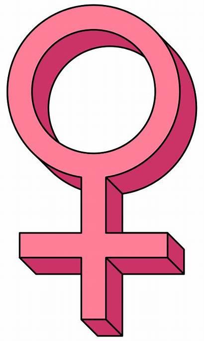Female Symbol Svg Venus Pink 3d Pseudo
