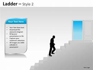 Corporate Ladder Hierarchy Style 2 Powerpoint Presentation Templates