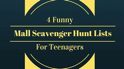 Scavenger Hunt Mall Funny Teenagers Lists Riddles