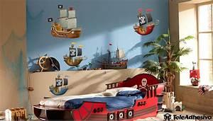 Piraten Kinderzimmer Gestalten : kinderzimmer wandtattoo gelb piraten schiff ~ Michelbontemps.com Haus und Dekorationen