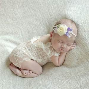 Baby Newborn Lace Romper Photography Props Accessories Infant Bebe Girls Floral Lace Top Photo ...