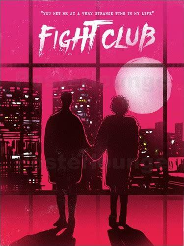 toastdesign fight club  scene art print poster